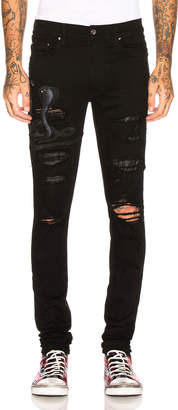 Amiri Art Patch Snake Jean