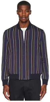 Todd Snyder Barre Stripe Bomber Jacket Men's Coat