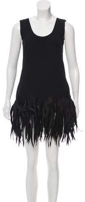 Vivienne Tam Fringe Embellished Mini Dress