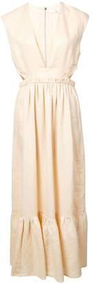 Tibi deep v-neck dress