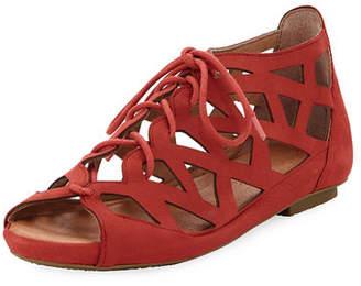 Gentle Souls Brielle Lace-Up Cutout Sandal
