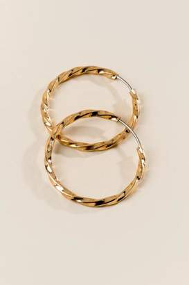 francesca's Andie Twisted Metal Hoops - Gold