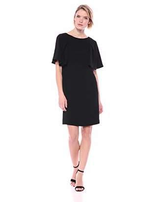 Trina Turk Trina Women's Scenic Pleated Short Sleeve Shift Dress