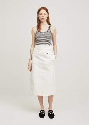Courreges Midi Denim Skirt White