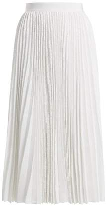MSGM Pleated Sequined Skirt - Womens - White