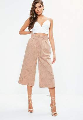 Missguided Floral Outline Printed Cotton Culottes
