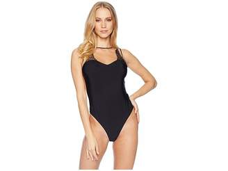 Felina Giselle Thong Lace Applique Bodysuit