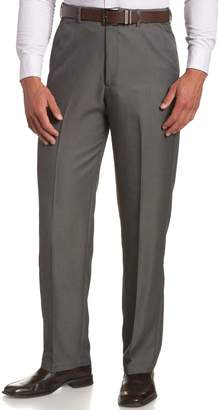 Haggar Men's Cool 18 Hidden Comfort Waist Plain Front Pant