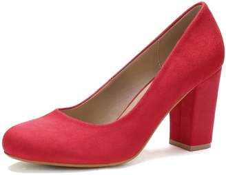 1c8d698375c6 Allegra K Women s Rounded Toe High Block Heel Classic Pumps (Size US ...