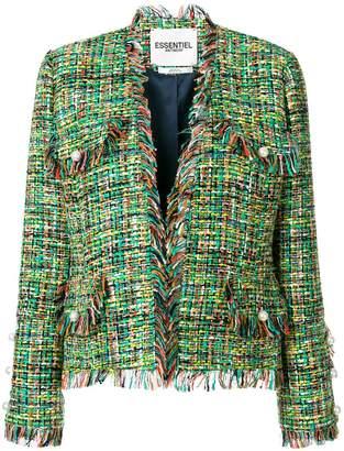 Essentiel Antwerp tweed frayed jacket
