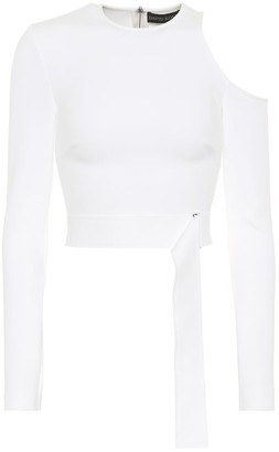 David Koma Belted Cutout knitted top