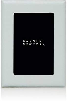 """Barneys New York Pebbled Leather 4"""" x 6"""" Picture Frame"""
