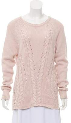 Autumn Cashmere Medium-Weight Cable Knit Sweater