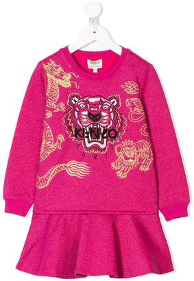 Kenzo Chinese New Year Capsule logo tiger embroidered dress
