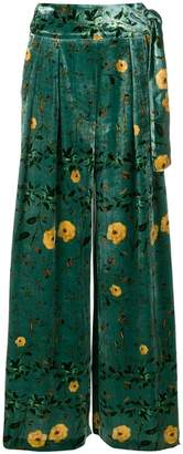 AILANTO floral print trousers