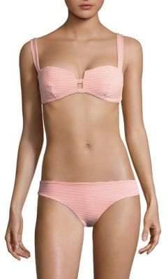 Onia Kirsten Stripe Bikini Top