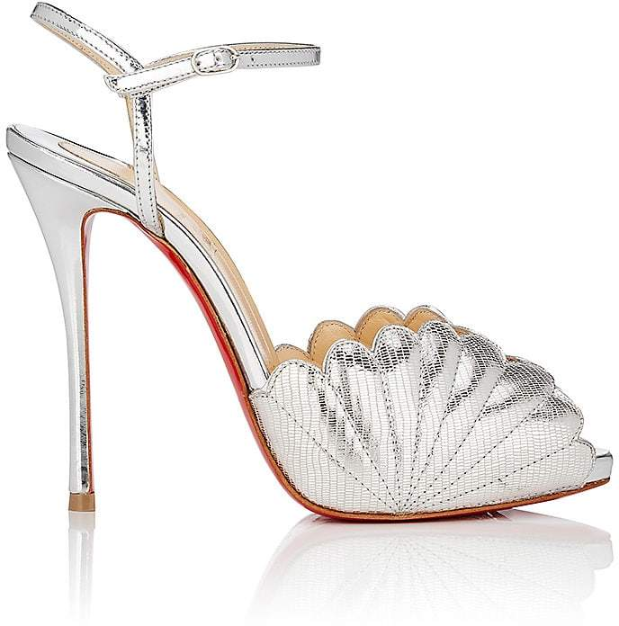 Christian Louboutin Women's Botticella Alta Metallic Leather Platform Sandals