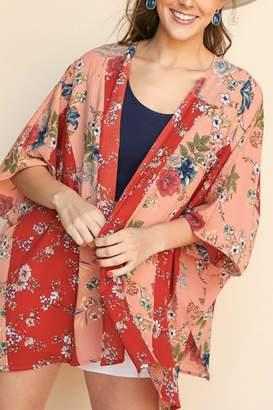 Umgee USA Florall Print Kimono
