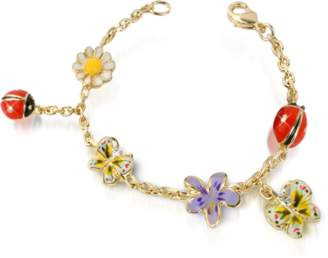 A-Z Collection Garden Line - Enamel Gold Plated Charm Bracelet