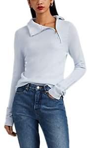 Giorgio Armani Women's Cashmere Half-Zip Mock-Turtleneck Sweater - Lt. Blue
