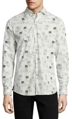 Vilebrequin Elephant-Print Cotton Shirt