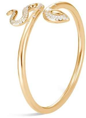 John Hardy 18K Yellow Gold Legends Cobra Diamond Pavé Flex Cuff - 100% Exclusive