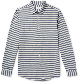Onia Albert Slim-Fit Striped Voile Shirt