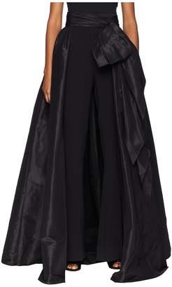 Marchesa Detachable Pleated Taffeta Over Skirt w/ Large Bow Women's Skirt