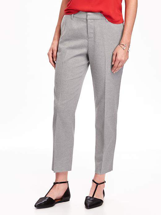 Mid-Rise Harper Brushed-Twill Trousers for Women