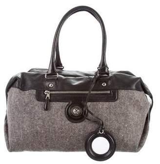 Balenciaga Leather-Trimmed Duffel Bag