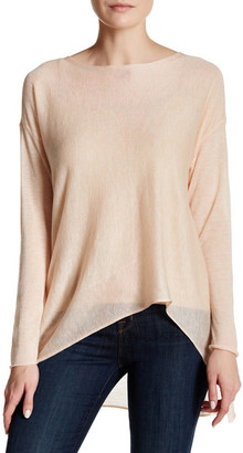 Eileen Fisher Asymmetrical Hi-Lo Pullover $218 thestylecure.com