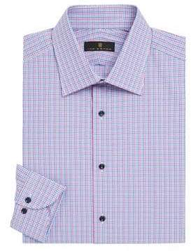 Ike Behar Contemporary-Fit Mini Check Dress Shirt