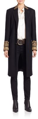 Ralph Lauren Collection Dawson Embroidered Wool & Cashmere Coat $7,990 thestylecure.com