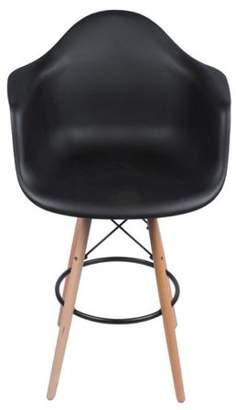 Joseph Allen Eames Arm Chair with Counter Stool Legs