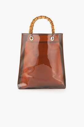 Genuine People PVC Tote with Bamboo Handles