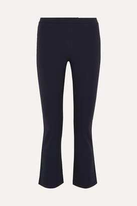 Max Mara Cropped Stretch-jersey Flared Pants - Navy