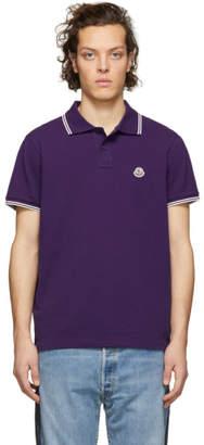 Moncler Purple Logo Polo