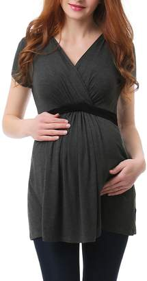 Kimi and Kai Jasmine Belted Maternity/Nursing Surplice Top