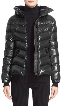 Women's Moncler 'Anthia' Water Resistant Shiny Nylon Hooded Down Puffer Jacket $1,180 thestylecure.com