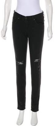 Rag & Bone Soft Rock Mid-Rise Skinny Jeans