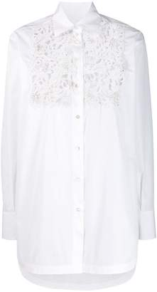 Valentino lace chest shirt