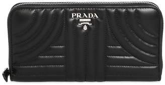 Prada Quilted Leather Zip Around Wallet