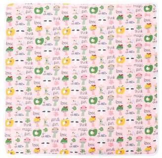 Fendi logo printed blanket