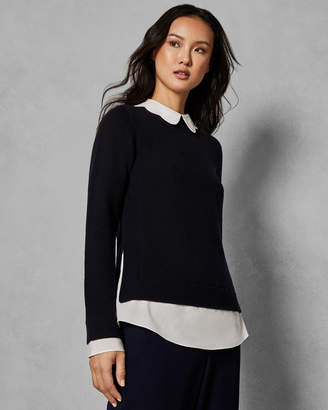 Womens Sweater With Shirt Collar Shopstyle