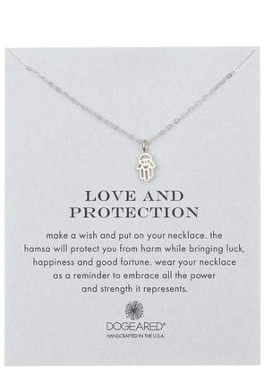 Dogeared Sterling Silver 'Love & Protection' Cutout Hamsa Hand Pendant Necklace