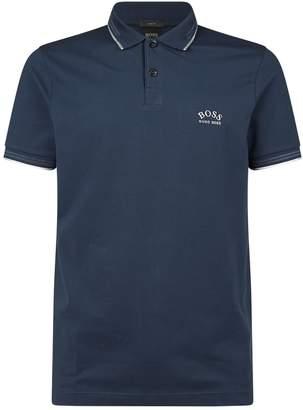 BOSS Curved Logo Polo Shirt