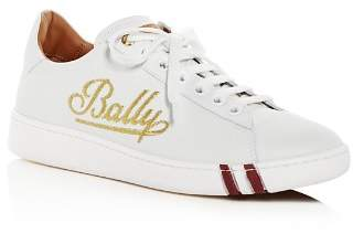 Bally Women's Wiera Embroidered Leather Lace-Up Sneakers