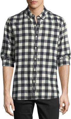 Joe's Jeans Men's Piper Check Woven Long-Sleeve Shirt