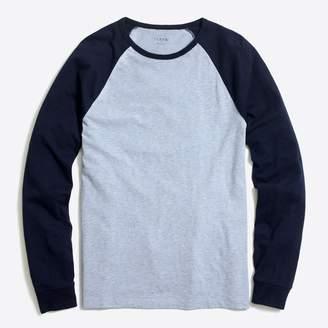J.Crew Factory Long-sleeve slub baseball T-shirt