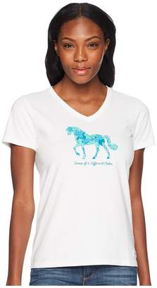 Life is Good Horse Of A Different Color Crusher Vee Tee Women's T Shirt